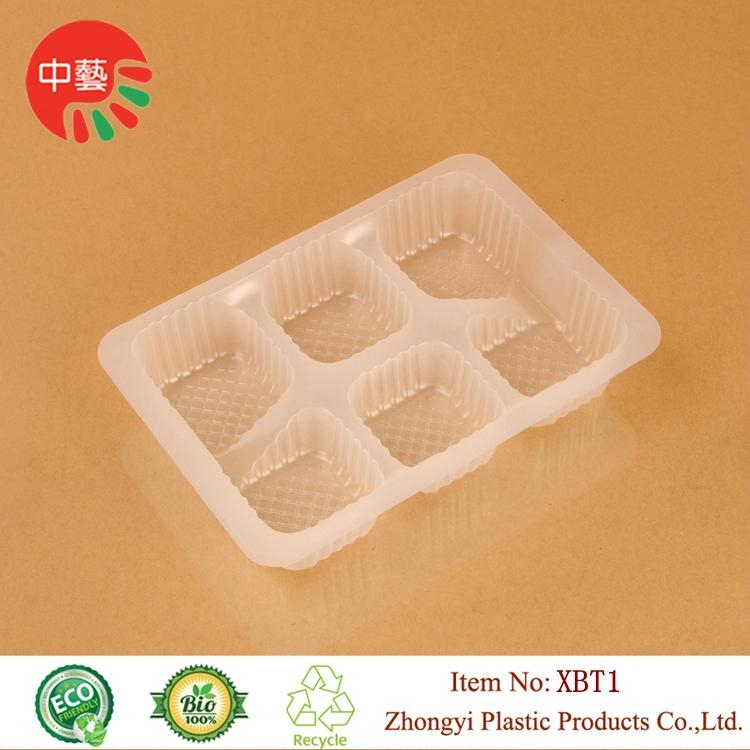 blister PP plastic packaging food tray with dividers 3