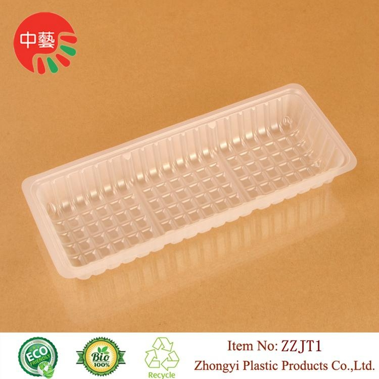 blister PP plastic packaging food tray with dividers 2