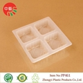 food grade plastic cooked food tray with dividers 3