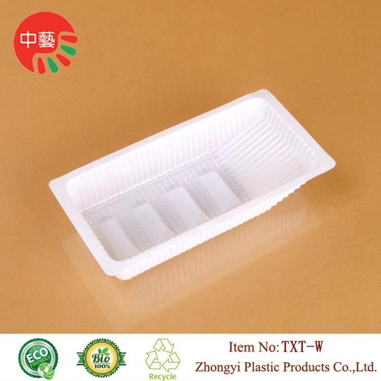 blister PP plastic packaging food tray with dividers 1