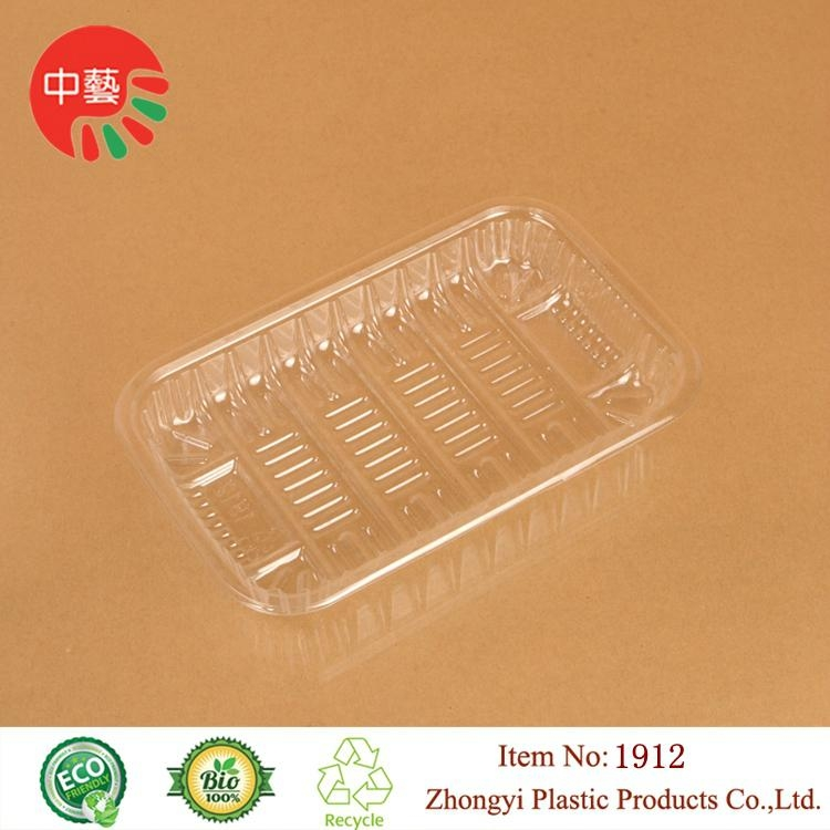 clear PET plastic disposable blister food tray 2