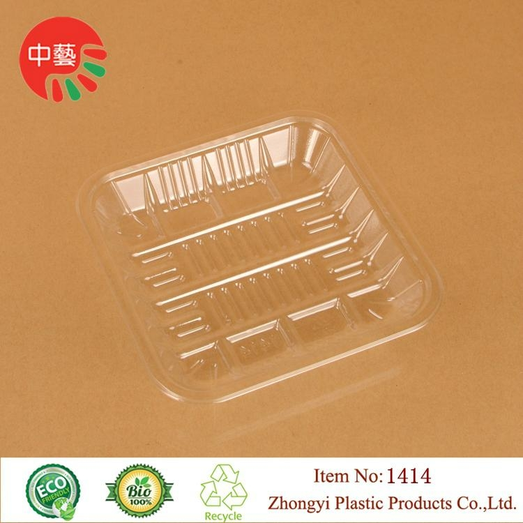 clear PET plastic disposable blister food tray 3