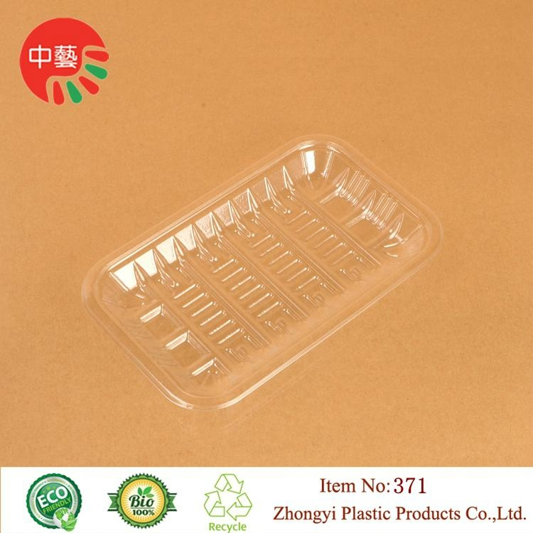 clear PET plastic disposable blister food tray 4