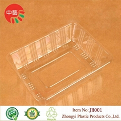 clear food grade plastic tray for baking