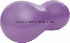 Exercise with 65cm swiss ball crunch,