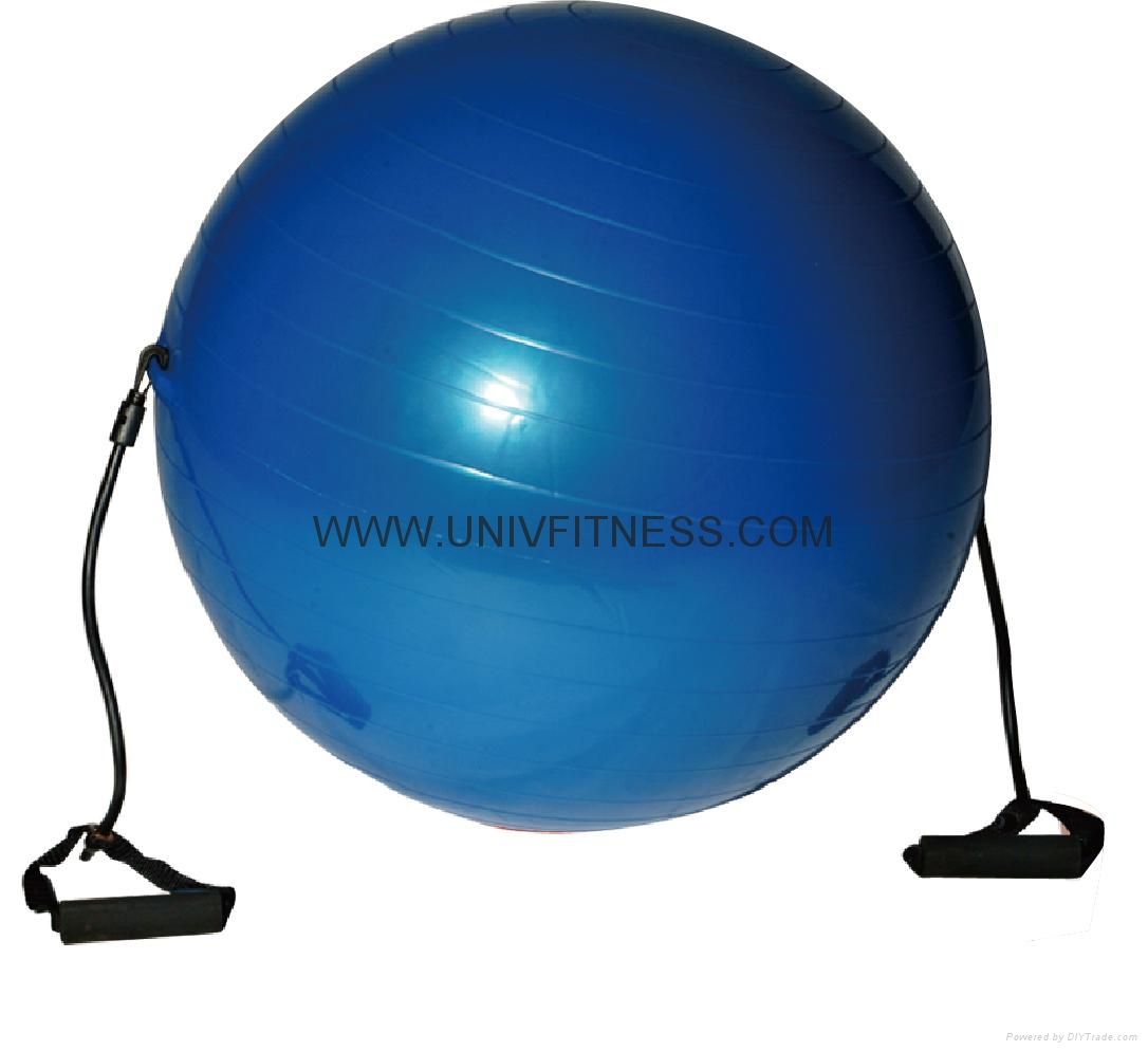 Exercise with 65cm swiss ball crunch, best gymball for pregnancy and birthing 3