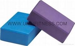 EVA yoga brick, pu yoga brick, cork yoga brick for selling