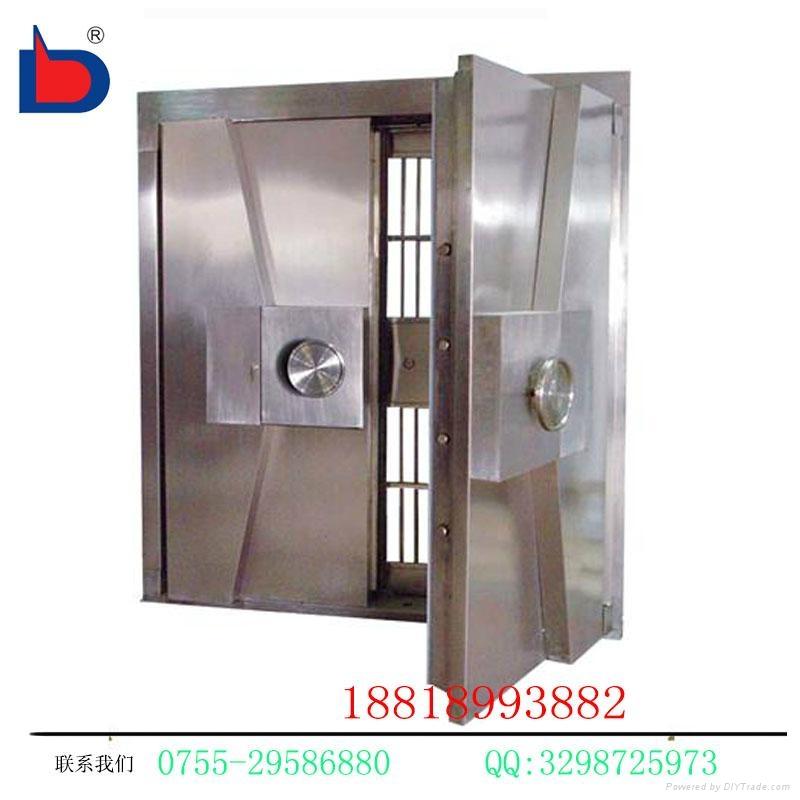 專業廠家生產三鎖聯動不鏽鋼銀行金庫門 3