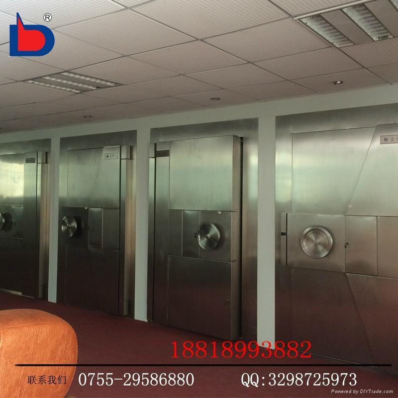 專業廠家生產三鎖聯動不鏽鋼銀行金庫門 4
