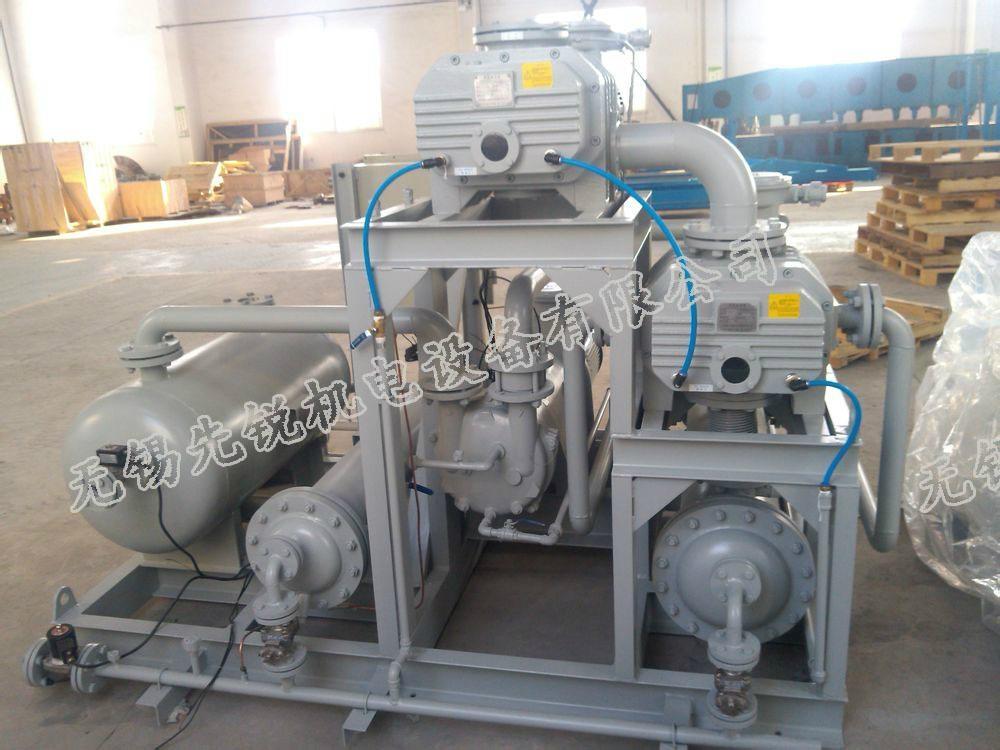 真空蒸馏蒸发脱水结晶聚合反应用泵罗茨水环真空机组 2
