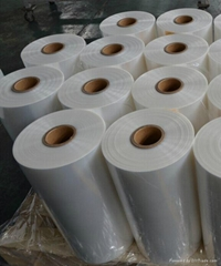 POF center folded shrink film with five layers