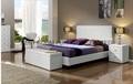 promotion cheap leather beds with night stands and storage ottoman 2