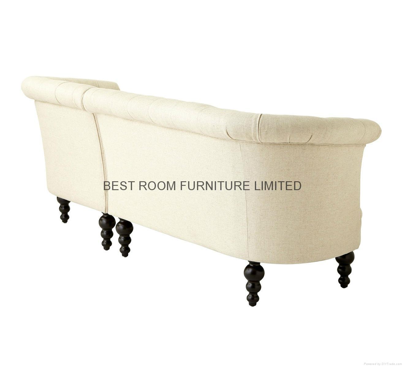 mordern liene  fabric tuffed hot-sold american furniture corner sofa with chaise 2