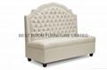 Resturant high back sofa storage sofa nails decor fabric sofa  full-tuffed sofa 2