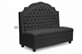 Resturant high back sofa storage sofa nails decor fabric sofa  full-tuffed sofa 3