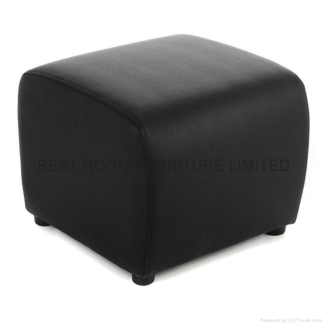 mordern single leather sofa chairs with small leather stool pouf sofa l92 best room china. Black Bedroom Furniture Sets. Home Design Ideas