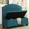Resturant high back sofa storage sofa nails decor fabric sofa  full-tuffed sofa 4