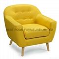 France mordern fabric sofa chairs