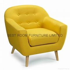 France mordern fabric sofa chairs  colorfull creative small liene sofa single s