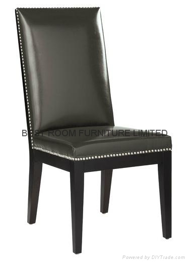 soild wood frame dining chairs nails decor leather dining chairs  1