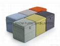 fabric storage ottoman leather ottoman bedroom furniture bench 1