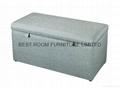 fabric storage ottoman leather ottoman bedroom furniture bench 2