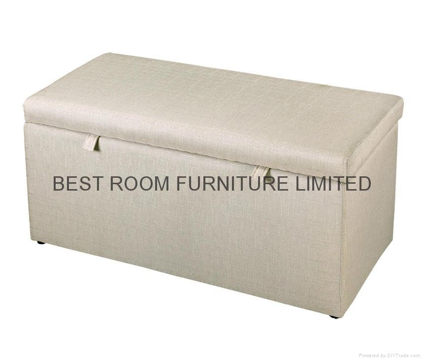 fabric storage ottoman leather ottoman bedroom furniture bench 3