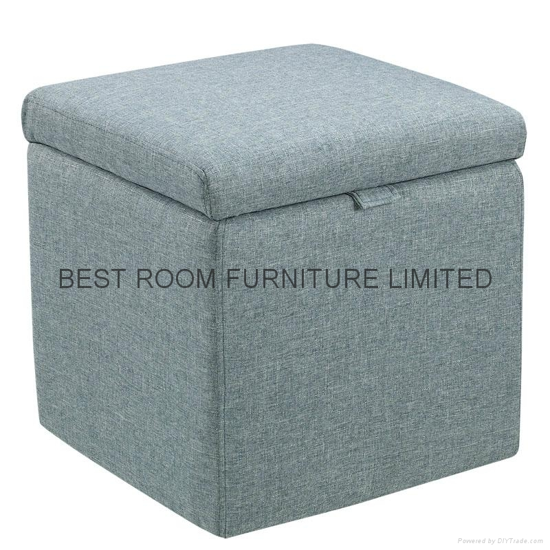 fabric storage ottoman leather ottoman bedroom furniture bench 4