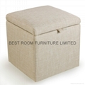 fabric storage ottoman leather ottoman bedroom furniture bench 5