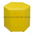 10 Colorfull Creative leather round stools high quality leather ottoman stools 2