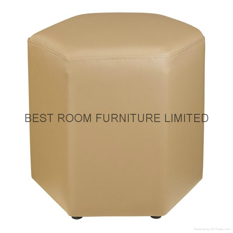 10 Colorfull Creative leather round stools high quality leather ottoman stools 4