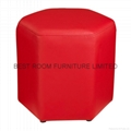 10 Colorfull Creative leather round stools high quality leather ottoman stools 5