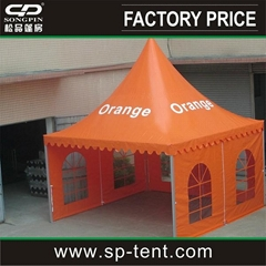 5*5M New Design Factory Price Orange Pagoda Tent For Sale