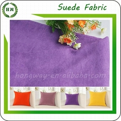 100 polyester faux suede fabric and PD microfiber fabric with solid color