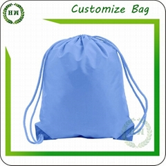 Wholesale nylon material customize logo backpack drawstring bag with your print