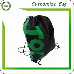 Non woven drawstring bag with your printing design backpack