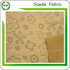 100 polyester emboss microfiber crepe suede fabric for sofa ang pillow case