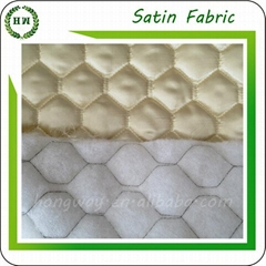 Customize design Quilted satin fabric for bed sheet and winter coat