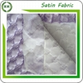 Customize design Quilted satin fabric for bed sheet and winter coat 2