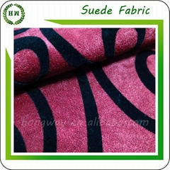 Wholesale Flocking microfiber faux suede fabric design for sofa and pillow