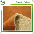 Bonded microfiber fabric faux suede for