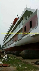 Ship launching marine airbags