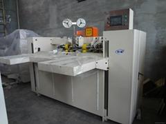 corrugated carton box stiching machine