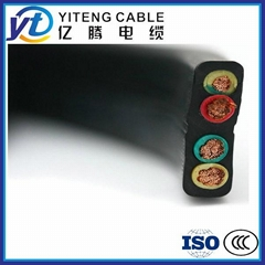 High quality low presure flat rubber cable for crane machinery