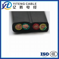 Low presure Chinese flat rubber cable for crane machinery
