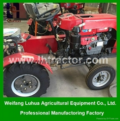 LH electric started 15hp mini farm tractor for sale