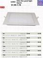 9W Ultra thin panel light Square