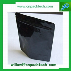 white dark stand up pouch zipper bags