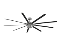 "Fanimation The Odyn FPD8148BN 84"" Ceiling-Mounted Fan - Brushed Nickel/Black bla"