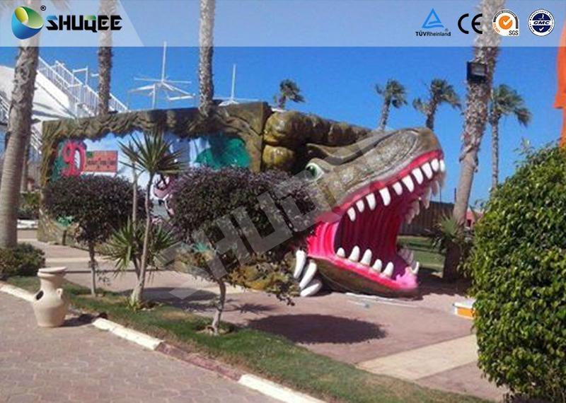 Vivid Green Dinosaur 5D Movie Theater Nine Seats With Luxury Chairs 2